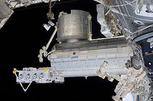 ArduSat - The Japanese Experiment Module Kibo laboratory and Exposed Facility, from which the CubeSats are launched via the ISS.