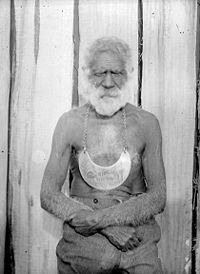 King Merriman, un líder aborigen australiano