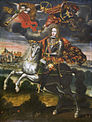 King Louis I of Spain on Horseback, early 18th century. Peruvian, Philadelphia Museum of Art.jpg