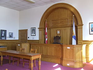 Kings County Museum - The Restored 1903 Courtroom.