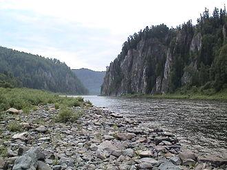 Tisulsky District - The Kiya River near the settlement of Moskovka in Tisulsky District