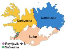 Círculos eleitorais islandeses.