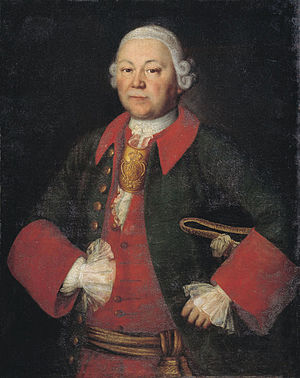 Mina Kolokolnikov - Portrait of Prince I. Meschersky by Mina Kolokolnikov, 1756