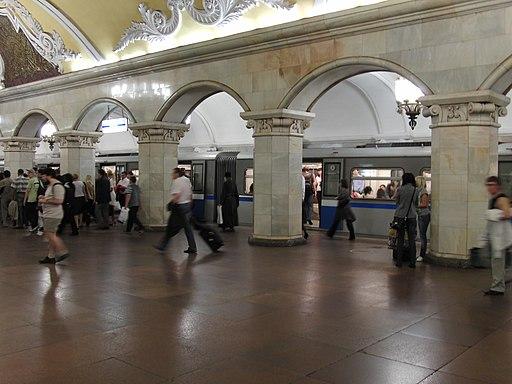 Komsomolskaya-koltsevaya (Комсомольская-кольцевая)Rusich train on Komsomolskaya-koltsevaya station (4685778347)