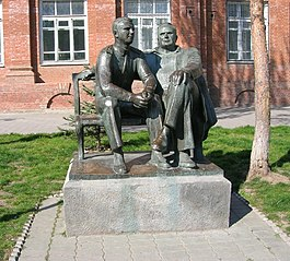 Monument to Sergei Korolev and Yuri Gagarin