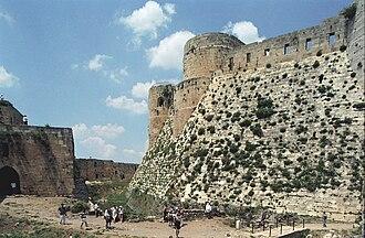 Talus (fortification) - Image: Krak des chevaliers 04(js)