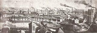 The Krupp factory in Essen, 1880 (Source: Wikimedia)