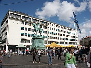 Kungsportsplatsen - The Kungsporten square with the statue of Charles IX