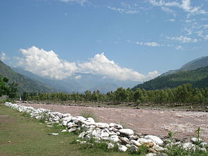 Balakot - Kunhar river near Balakot during July