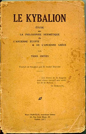 The Kybalion - The French cover of the book