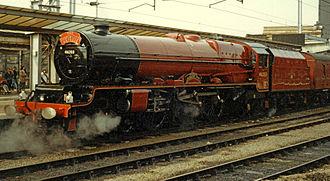 LMS Princess Royal Class - Image: LMS 8P 4 6 2 46203 PMR Carlisle 22.09.94R edited 2