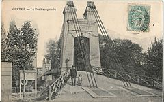 La Photo - CRETEIL - Le Pont suspendu.JPG
