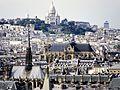 La Sainte-Chapelle, la cathédrale Notre-Dame de Paris et le Sacré-Coeur, vus du dôme du Panthéon, à Paris.jpg