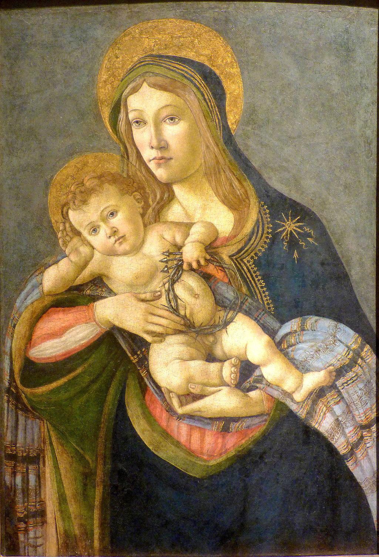 La Virgen y el Niño con la corona de espinas y tres clavos (Sandro Botticelli) (02)