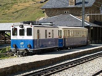 Mountain railway - Vall de Núria Rack Railway, Spain