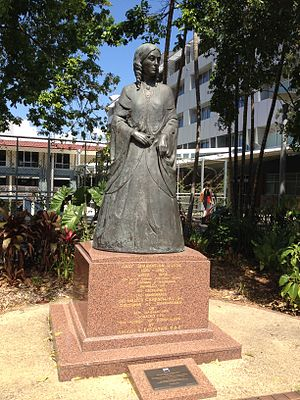 Diamantina Bowen - Statue of Lady Diamantina Bowen, beside Old Government House, Brisbane, 2013