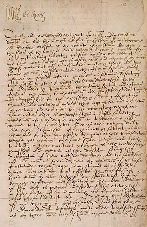 "Lady Jane Grey - Official letter of Lady Jane Grey signing herself as ""Jane the Quene"""