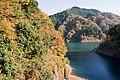Lake Miyagase from Fukaze tunnel 01.jpg