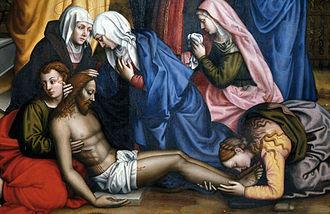 Plautilla Nelli - Lamentation with Saints by Plautilla Nelli