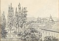 Landscape with Villas and a Church (Smaller Italian Sketchbook, leaf 6 recto) MET DP269414.jpg