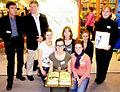 Landshuter Jugendbuchpreis 2010 - Frankfurter Buchmesse - Peter Klöss Tribute von Panem Übersetzer.jpg
