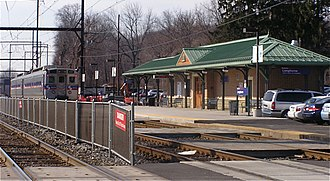West Trenton Line (SEPTA) - Langhorne station on the West Trenton Line.
