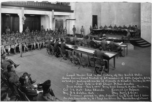 Largest Murder Trial in the History of the United States. Scene during Court Martial of 64 members . . . - NARA - 533485.tif