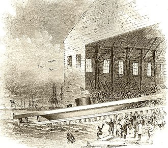 USS Monitor - Launch of USS Monitor, 1862