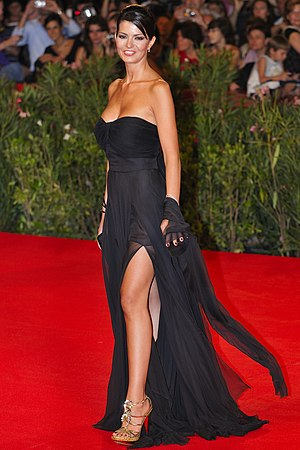 Gown - Laura Torrisi in an evening gown at Venice International Film Festival, 2009