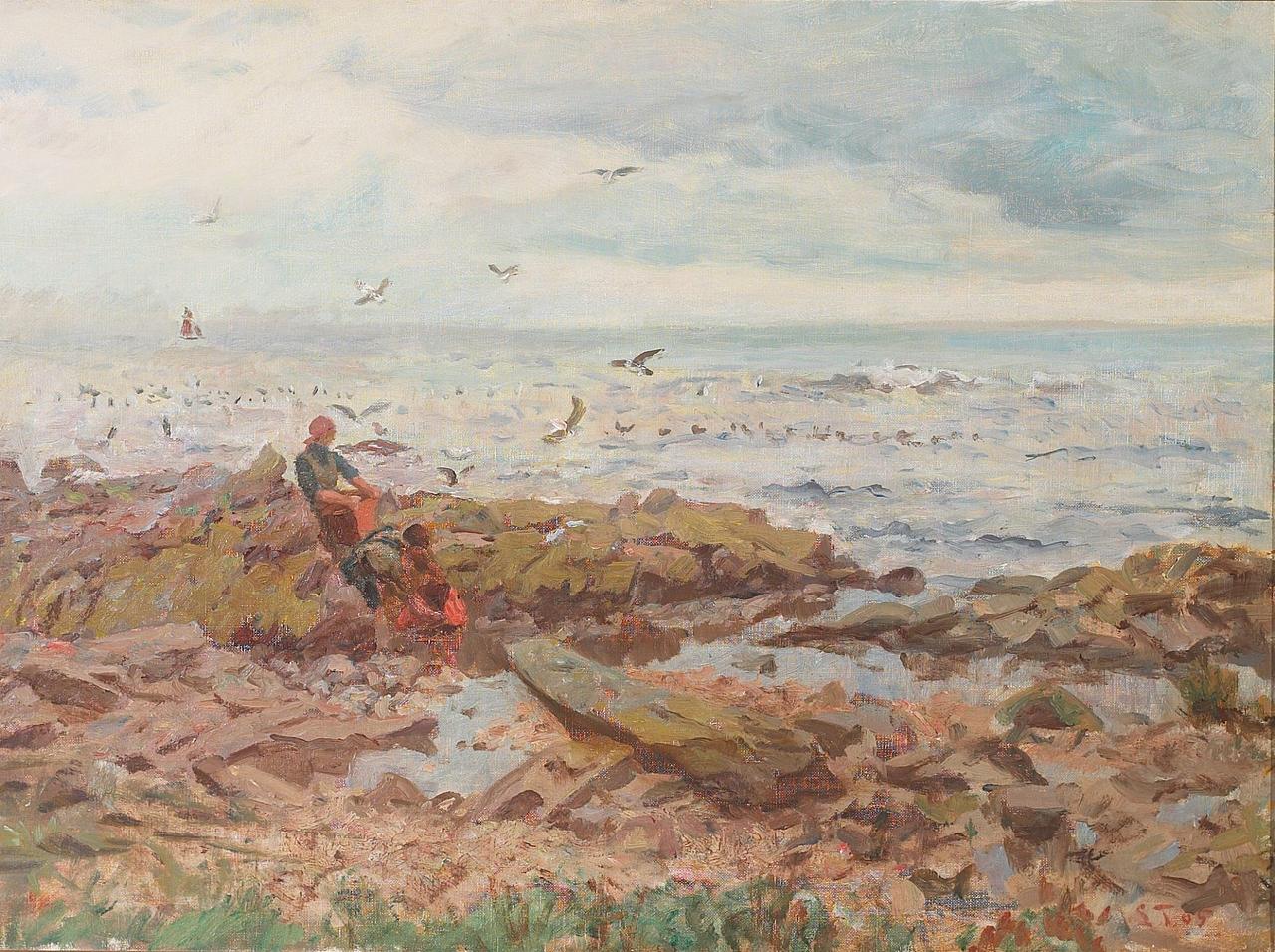 Laurits Tuxen - Figurer pе stranden. Бретань - 1905.png