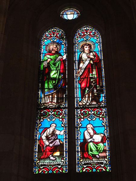 Le Barp (Gironde) église, vitrail 02