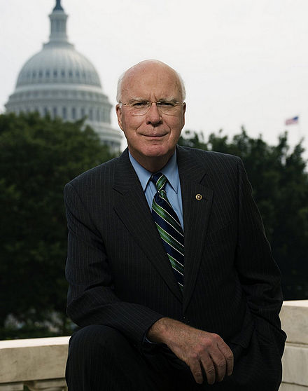 Patrick Leahy (D-Vermont), former president pro tempore, and current president pro tempore emeritus Leahy2009.jpg
