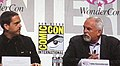Lee Unkrich & John Ratzenberger at WonderCon 2010 2.JPG