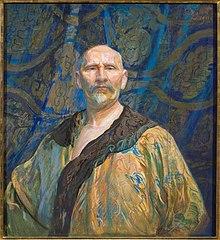 Autoportret w chińskiej szacie męskiej półoficjalnej longpao; Autoportret w chińskim kaftanie