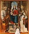 Leonardo Malatesta, Madonna col Bambino tra i santi Pietro, Sebastiano, Cosma, Silvestro e Giovannino, 1518, 02.jpg
