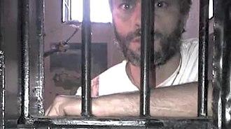 Leopoldo López - López in Ramo Verde Prison when he was initially detained in 2014