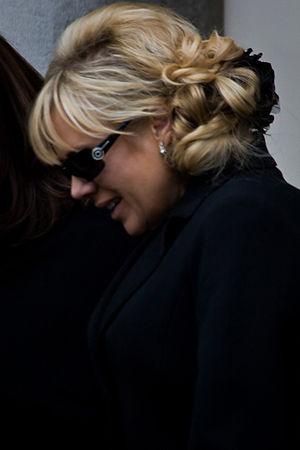Letitia Dean - Dean in 2009 at Wendy Richard's funeral service