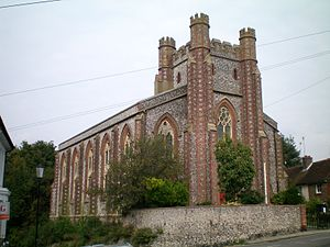 Church of St John sub Castro, Lewes - St John sub Castro from the south-west, 2009