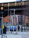 Life Cycle bicycle sculpture, Manchester (Geograph 2301580 by Thomas Nugent).jpg