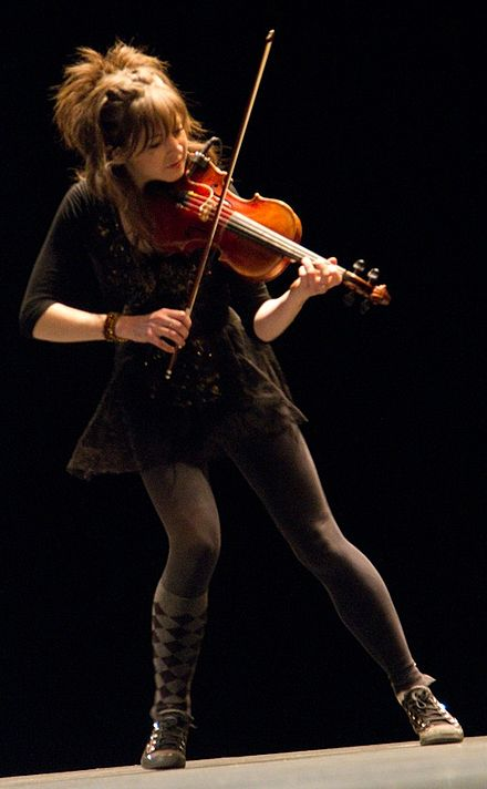 Lindsey Stirling performing at TEDx Berkeley, 2012. Lindsey Stirling.jpg