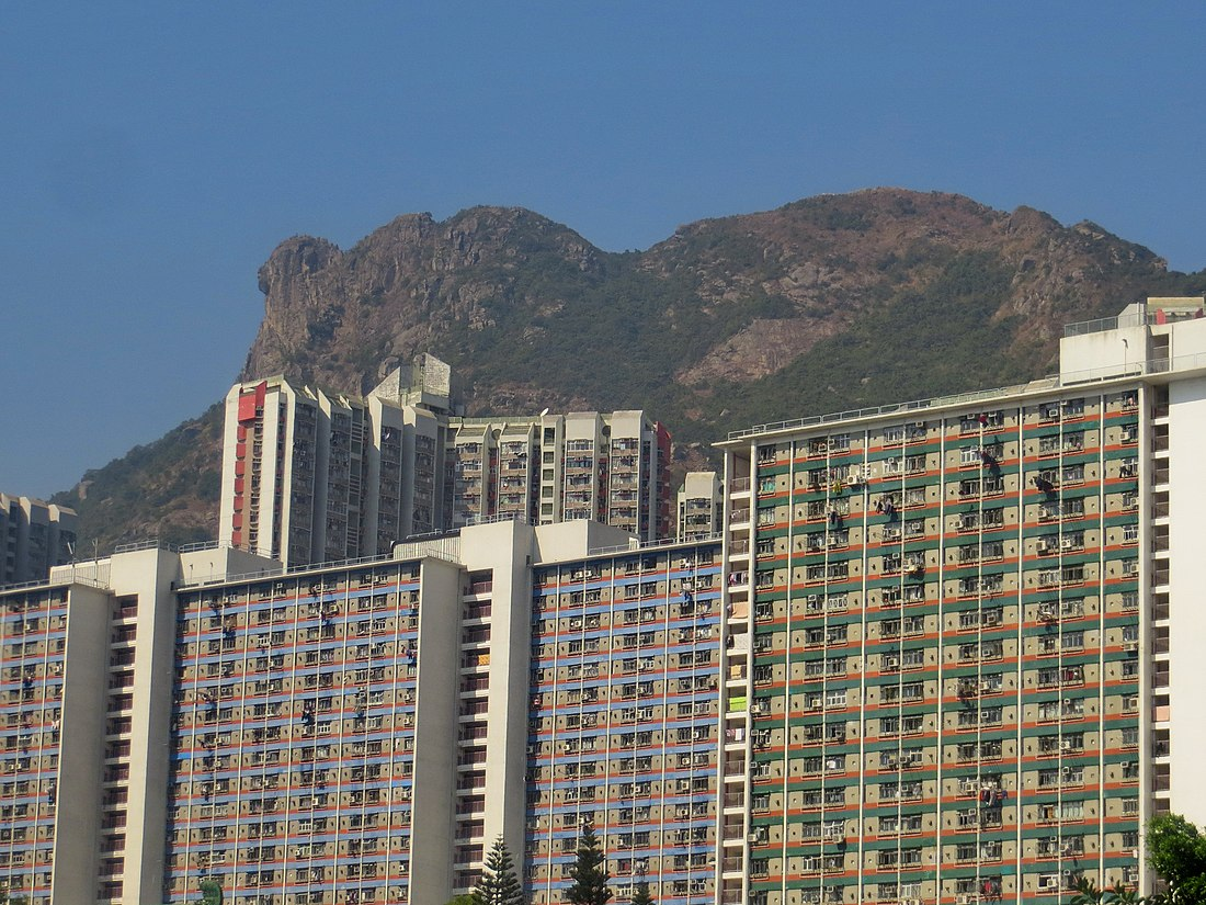 Lion Rock, viewing from Lung Cheung Road (Hong Kong).jpg