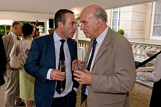 Vince Cable - Cable with Financial Times editor Lionel Barber in 2011