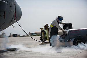 Liquid oxygen - Image: Liquid oxygen, Bagram Airfield, Afghanistan 4