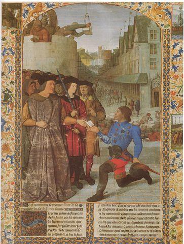 Страница из иллюстрированной рукописи «Истории». Ок. 1460 года.