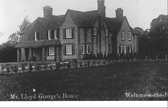 Walton-on-the-Hill - Pinfold Manor, built for David LLoyd George in 1912.