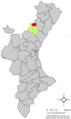 Localització de Vilafermosa respecte del País Valencià.png