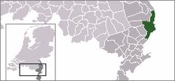 Lage von Venlo in den Niederlanden