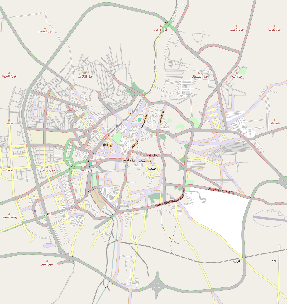 Aleppo is located in Aleppo