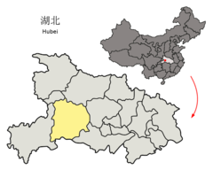 Location of Yichang Prefecture within Hubei (China).png