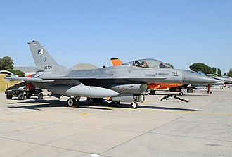 Pakistan Aeronautical Complex - A F-16A at the PAC, the F-16s are maintained at the PAC.